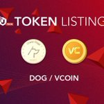 Image for the Tweet beginning: 📢📢TRC token listing: $DOG by