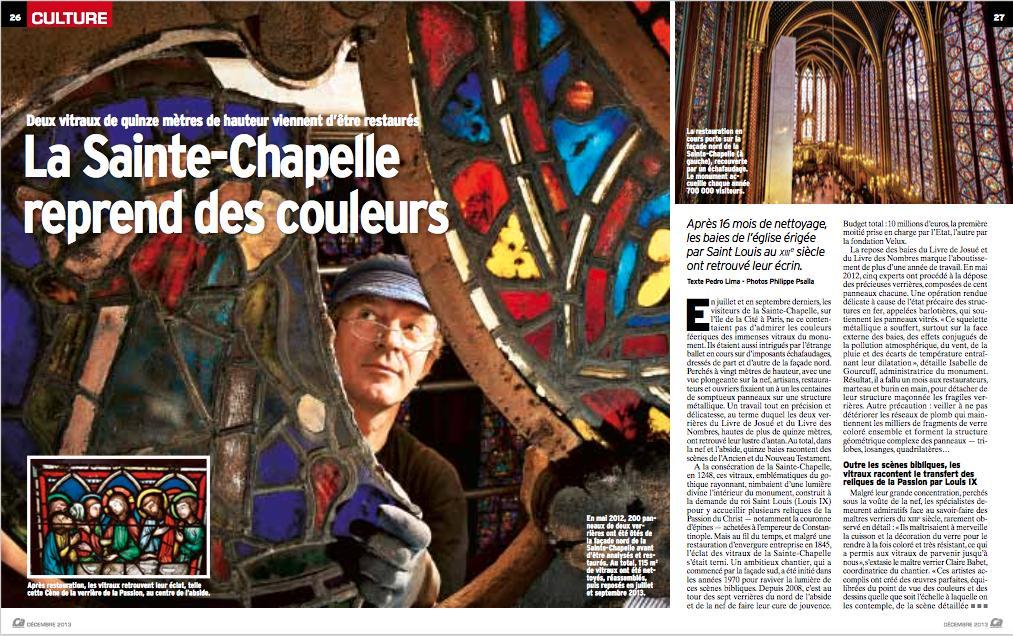 En résonance avec #NotreDame, retour sur notre reportage de 2013, avec Philippe Psaïla, sur la restauration exemplaire de la Sainte Chapelle par les équipes du @LRMH_officiel rattaché au @MinistereCC. #Polychromie