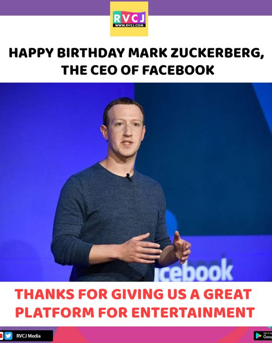 Happy Birthday Mark Zuckerberg!