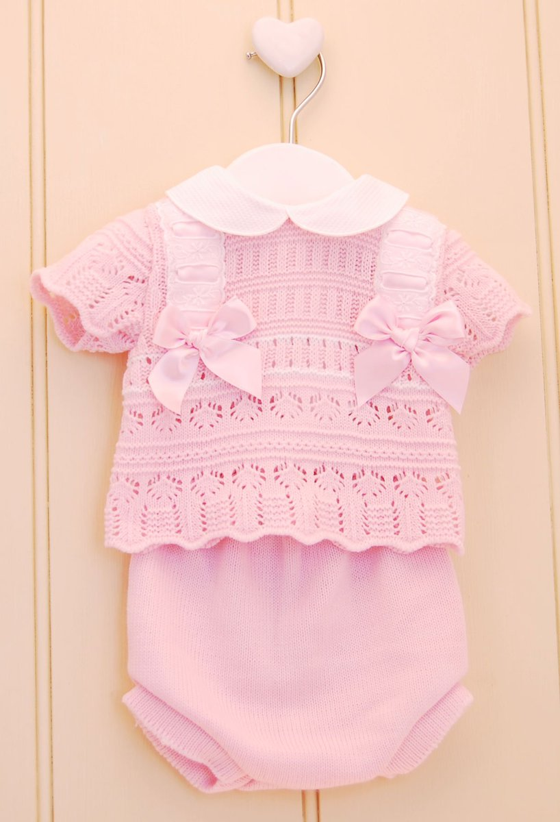 66eeb791a Our new baby girls sets are selling  fast....https://pexwholesale.co.uk/knitwear.html?p=1 … #summer2019  #summerbaby #wholesale #babywholesale #babyknits ...