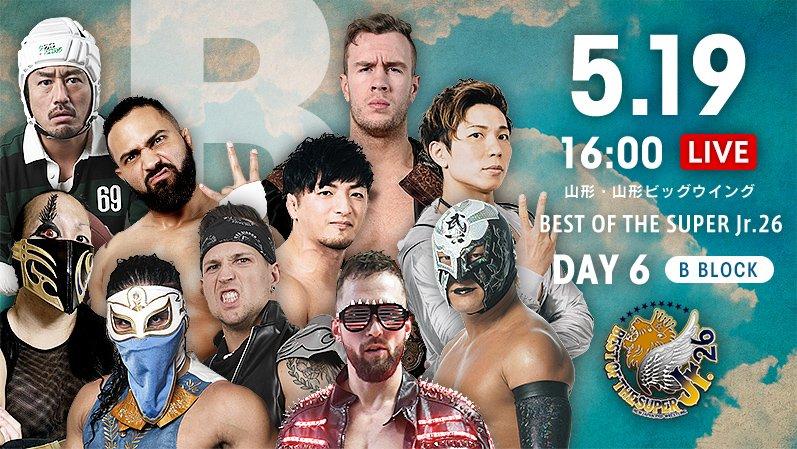 """NJPW: """"Best of the Super Jr. 26"""" Días 5 y 6 Dragon Lee y Bandido suman 8"""