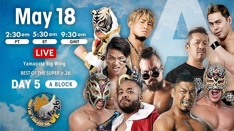 """NJPW: """"Best of the Super Jr. 26"""" Días 5 y 6 Dragon Lee y Bandido suman 2"""