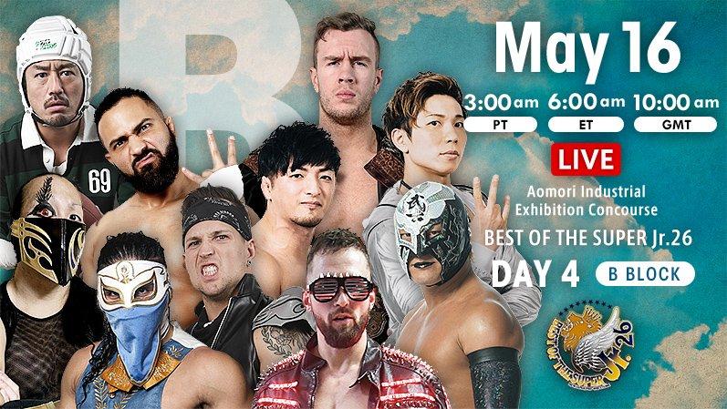 "NJPW: ""Best of the Super Jr 26"" Día 4, cuatro hombres se despegan 2"