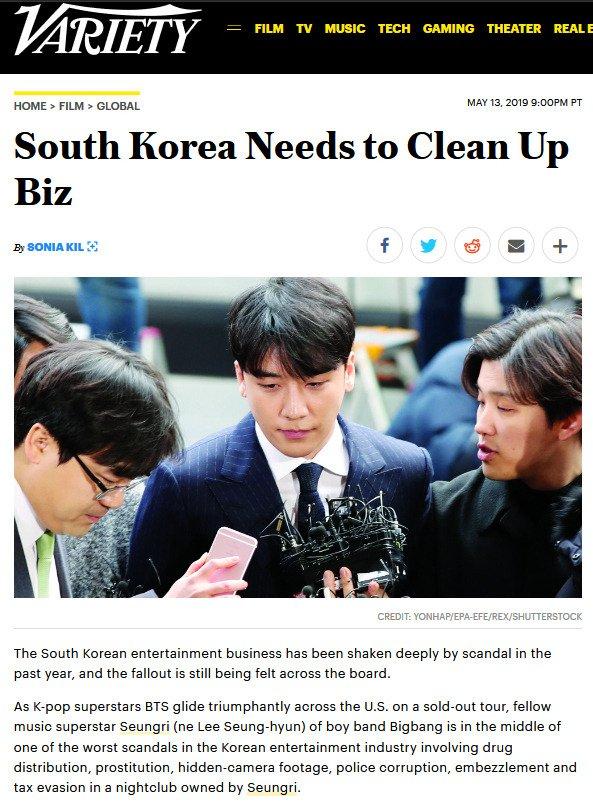 Variety: South Korea Needs to Clean Up Biz https://t.co/fN2EwaiXbu  #BurrningSun #BurningSunScandal #kpop #SouthKorea #chaebol #scandal https://t.co/NlpvJ7ILnX