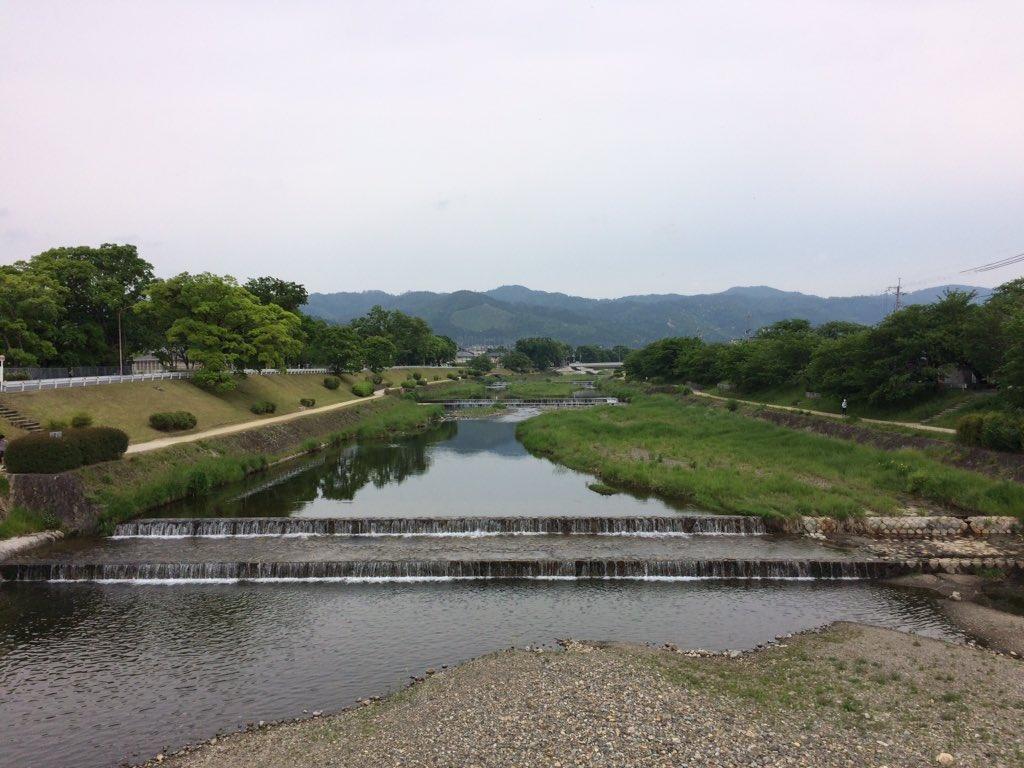 今日の賀茂川。 #Kyoto #kyokamo #鴨川 #京都 #上賀茂橋
