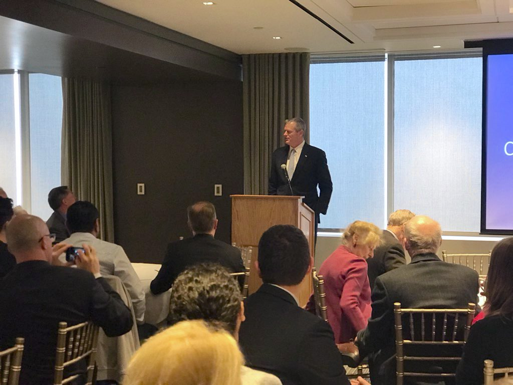 Spent time at the Boston Leaders for Education breakfast this morning discussing the need to work together to take action on school finance reform. Appreciated the opportunity to outline our Administration's plan to ensure every child has access to a quality education. #MAedu – at UMASS Club