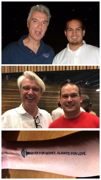 Happy birthday to David Byrne! I don t know who I d be without your music...