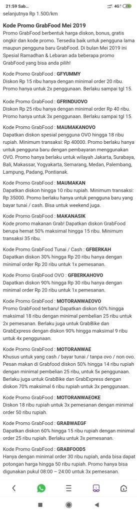Kode Promo Grab Kendari Kode Promo Grab