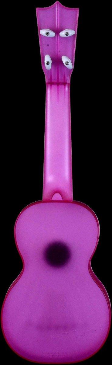 Sekiguchi Kazuyuki pink see through plastic Ukulele back