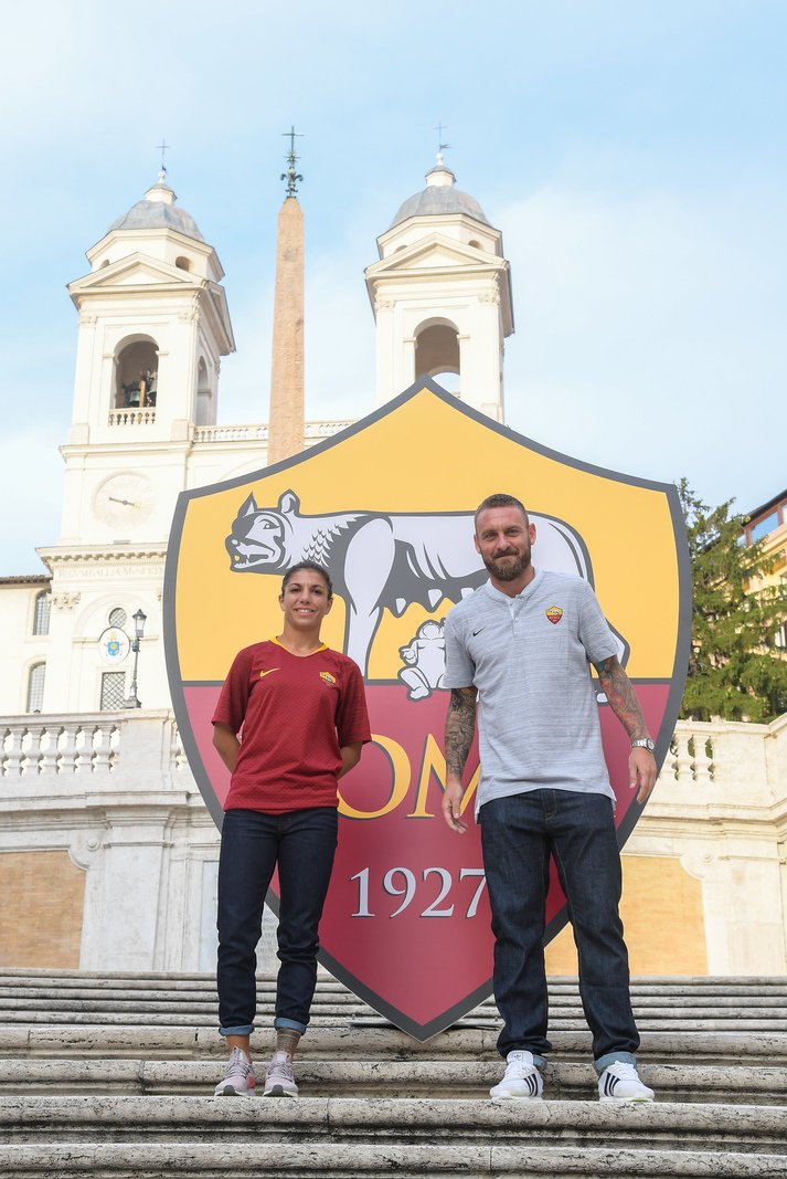 A great player, a great person, a great supporter of #ASRomaWomen.   Grazie Daniele! 🐺 #ASRoma
