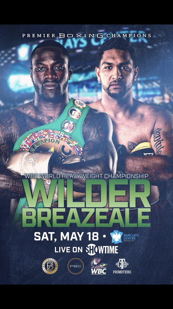 Can't wait for Saturday heavyweight clash between Wilder and Breazeale . 2 American heavyweights going at it for the green belt ! #WilderBreazeale<br>http://pic.twitter.com/zxsAzf0YKY