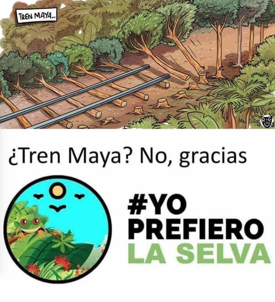 ¿Tren Maya?, no gracias.#YoPrefieroLaSelva