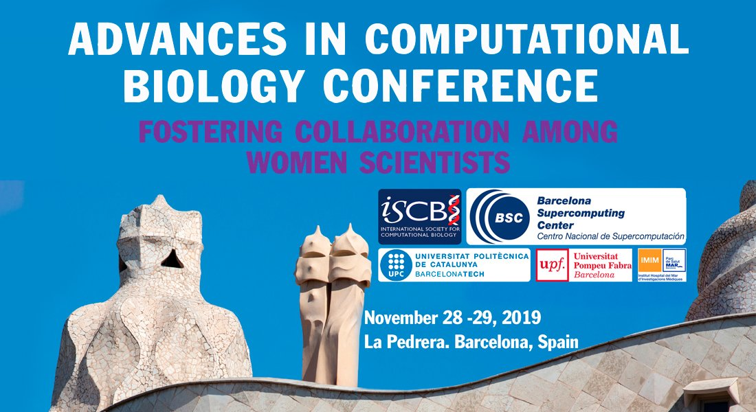 """BSC, UPC and IMIM organize  """"Advances in Computational Biology Conference"""" http://bit.ly/30f4zL4.  Abstract submission and registration are opened. Check the key dates!  http://bit.ly/2LG2Qve @hospitaldelmar @the_prbb @chusdonlo @maralbasoler @BSC_CNS @la_UPC @UPFBarcelona"""