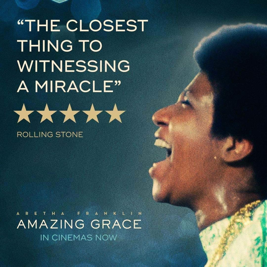 #AmazingGrace is a testament to the queen of soul at the height of her powers - playing in UK cinemas now. Book your tickets to see at your local cinema: amazinggracefilm.co.uk