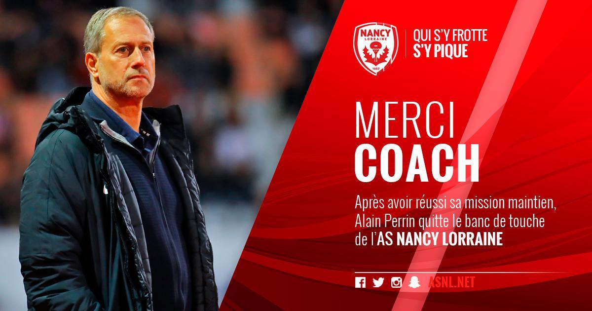 Perrin quitte son poste d'entraîneur à Nancy
