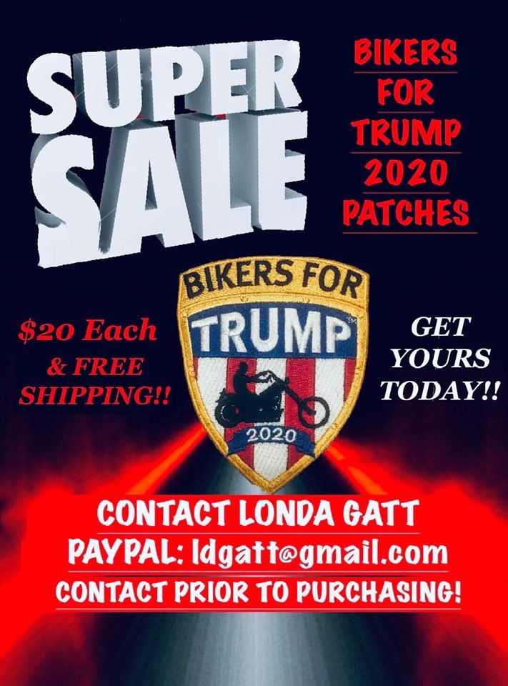 Represent @BikersTrump while riding this Summer. All profits go to Bikers For Trump to do the work to make #Trump2020 happen. Contact Londa by her email before ordering. Thanks<br>http://pic.twitter.com/qYwZX6GfMn