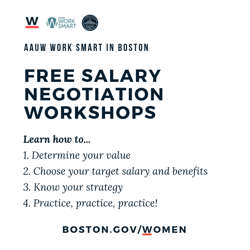 #DidYouKnow employers are NOT allowed to ask your previous salary during a job interview in MA?   Learn more at one of our FREE @BostonWomen & @AAUW salary negotiation workshops tomorrow! RSVP: http://bit.ly/PG-515   #EqualPayBOS
