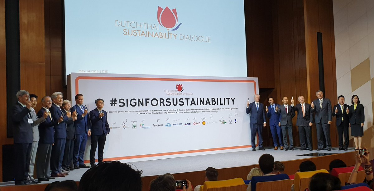 Excellent initiative of Dutch Ambassador Kees Rade in Bangkok, Thailand, to bring Thai and Dutch business people together in the Dutch-Thai Sustainability Dialogue. #signforsustainability