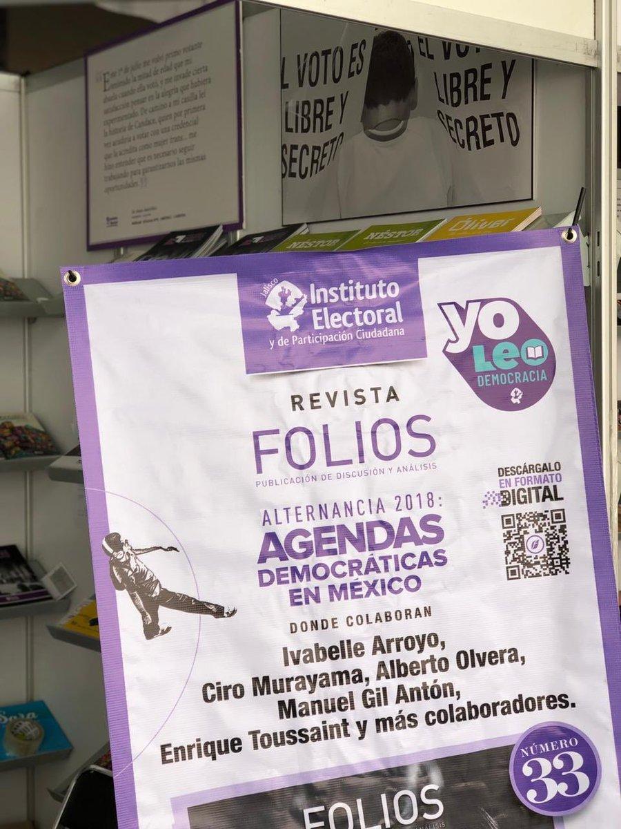 Visítanos en el stand 04 de la Feria Municipal del Libro de Guadalajara y conoce nuestros libros y nuestra @RevistaFolios #YoLeoDemocracia https://t.co/MkFDPhmfpJ