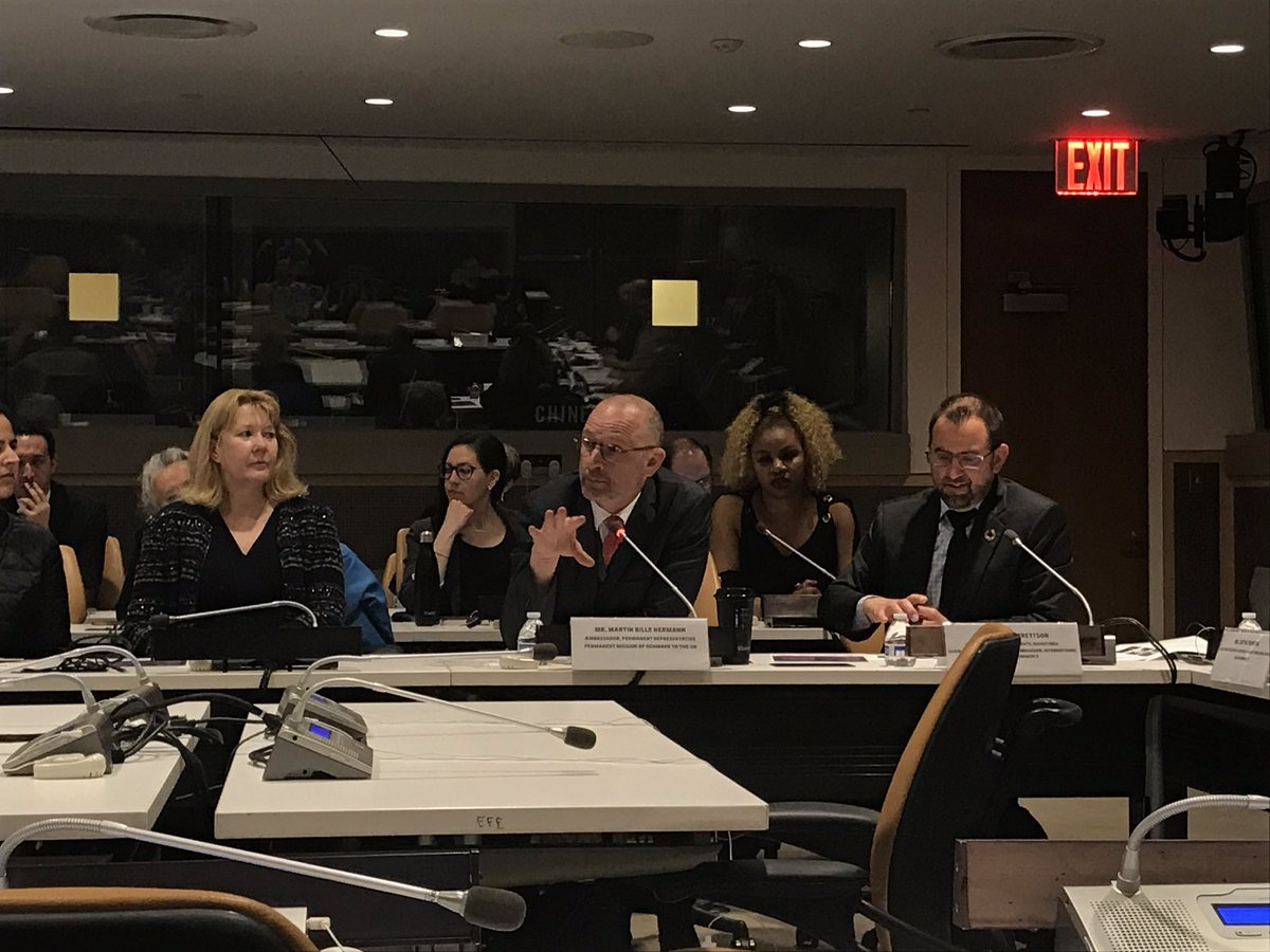 """""""We must harness power of partnerships"""" Involvement of all stakeholders & innovative collaborative forms are 🗝 for supporting the implementation of the #SDGs @BilleHermann underscores at today's event co-hosted by @Denmark_UN, @MexOnu, @HelloScienceIO & @unfoundation #STIForum"""