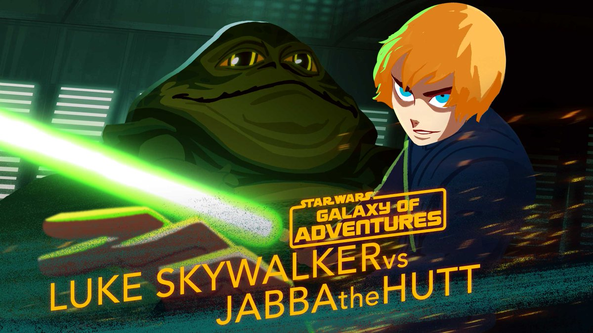 Luke Skywalker and Leia Organa work together to escape from the vile gangster Jabba the Hutt!  Watch more #GalaxyOfAdventures shorts, now available on Star Wars Kids: http://strw.rs/6009Eis7J