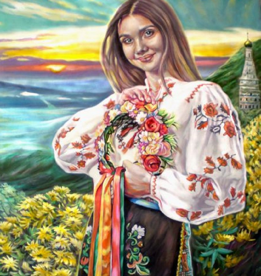 увенчает я украинка рисунок вас
