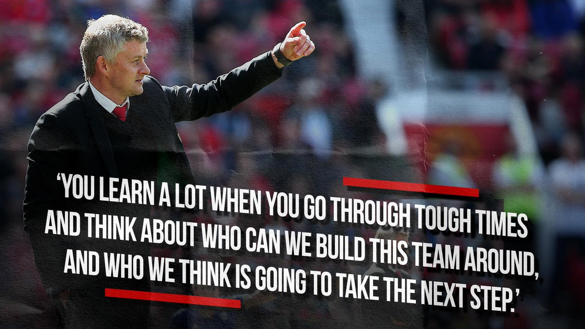 Ole is in a determined mood. #MUFC