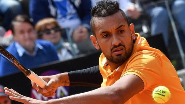 He's at it again...Unseeded Nick Kyrgios moved into the second round of the #ItalianOpen by beating 12th seed Daniil Medvedev. https://bbc.in/2vXQmVe #bbctennis
