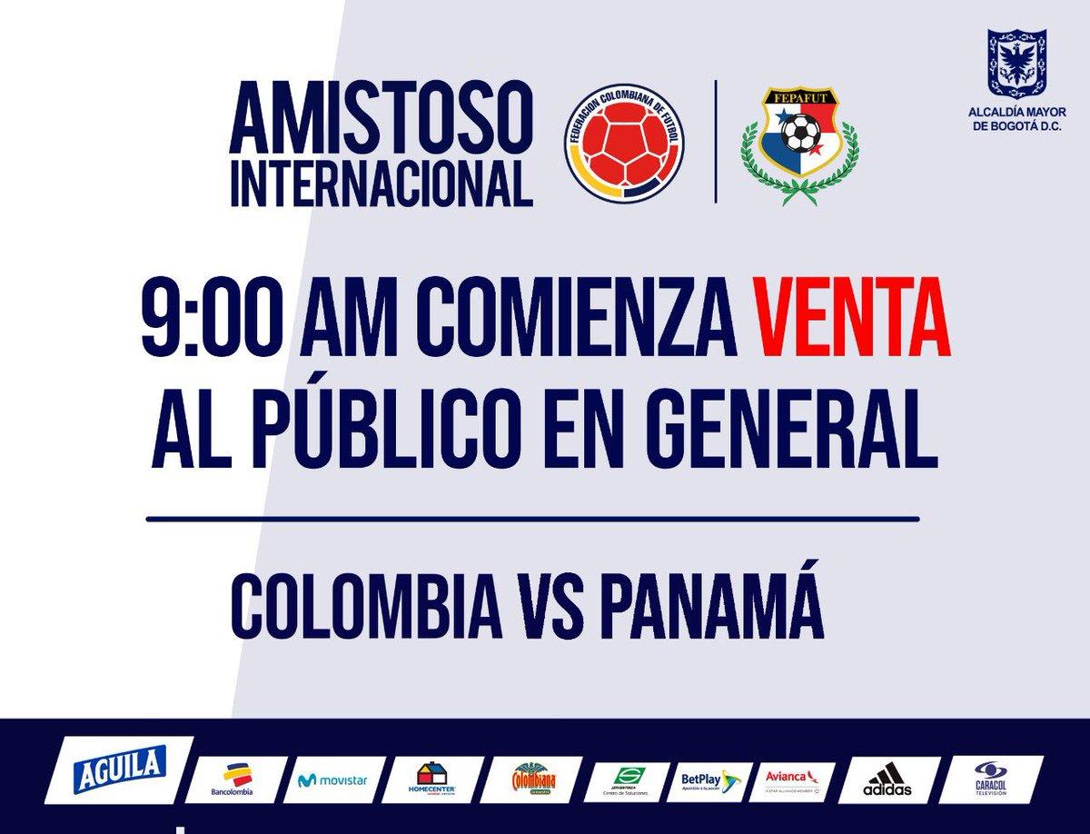 A partir de este momento puedes adquirir tu entrada para el partido Colombia vs. Panamá en el Estadio El Campín.   Mayor información: https://bit.ly/2VcF89i