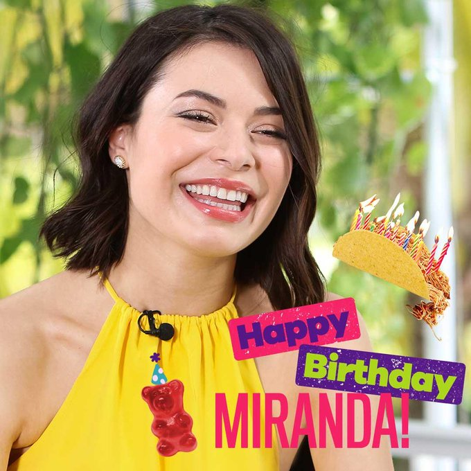 Happy Birthday to the amazing Miranda Cosgrove!