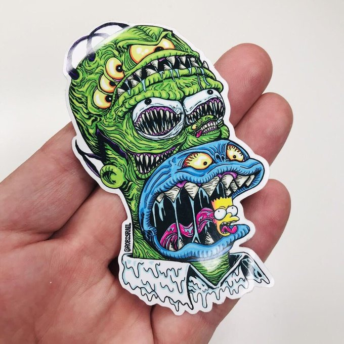 Happy Birthday Homer Simpson! Stickers are available. Message me to get them.