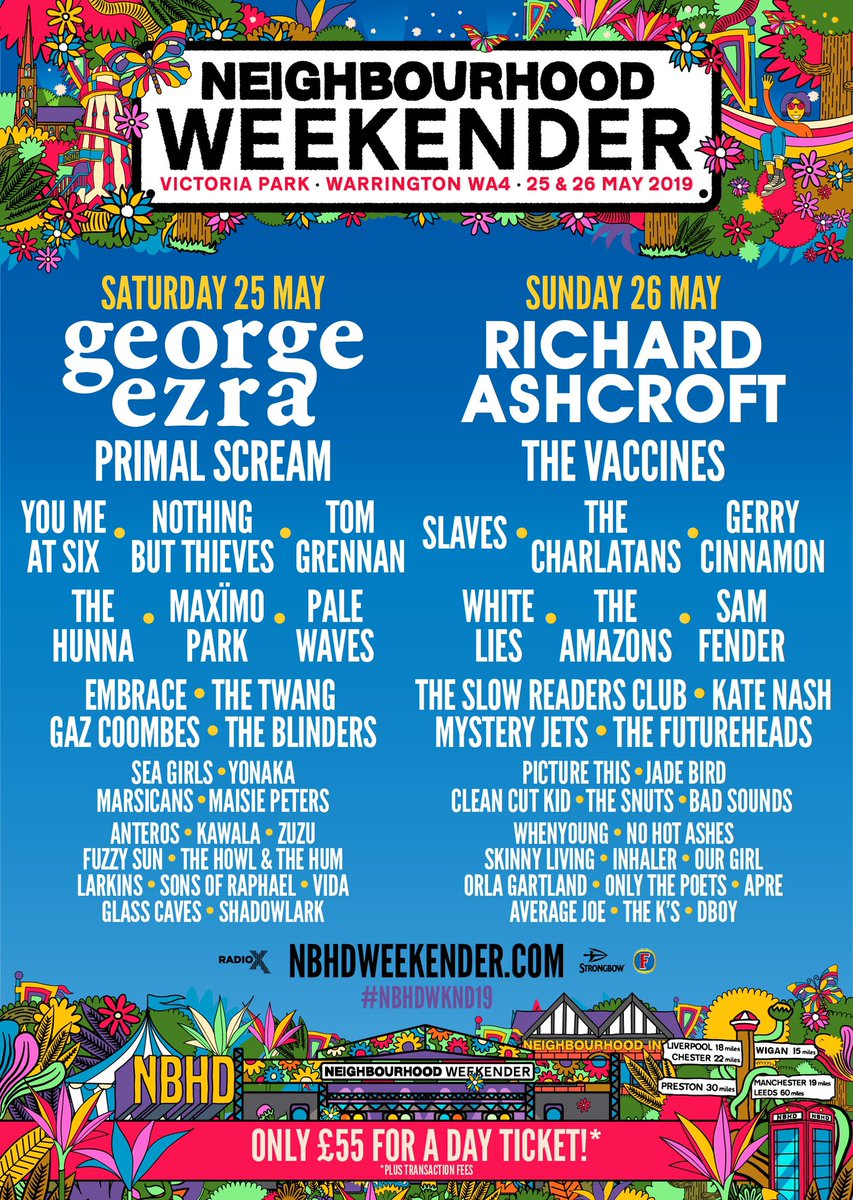 🎸TICKET GIVEAWAY🎸 Our friends over at @nbhdweekender have given us a couple of tickets to giveaway to one lucky person..all you have to do is RETWEET & TAG who you'll be taking with you! Good luck! nbhdweekender.com