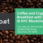Image for the Tweet beginning: Breakfast and blockchain? Join the