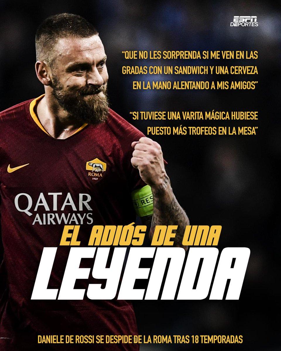 Otra leyenda nos dice 👋🏻  Daniele de Rossi te vamos a extrañar 😢 https://t.co/QlDA6ILDck