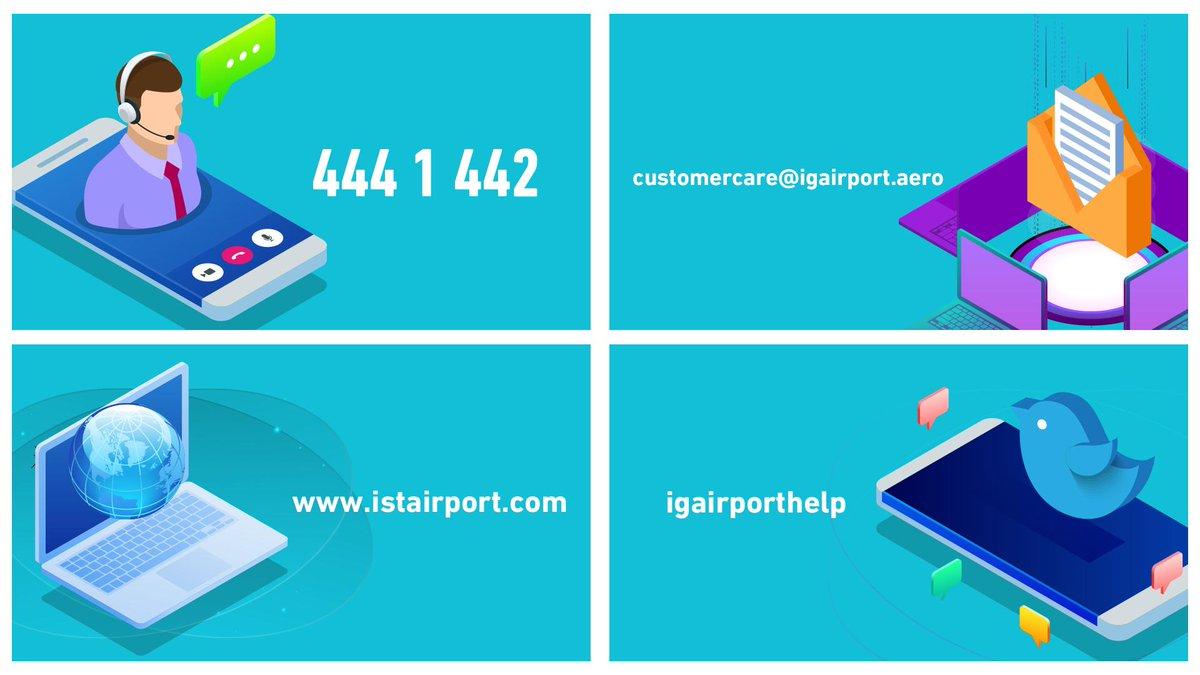 #İstanbulHavalimanı yolcu memnuniyeti kanallarımızdan, görüş ve önerilerinizi 7/24 bizimle paylaşabilirsiniz. ✈  You can share your opinions and suggestions with us 24/7 using #IstanbulAirport customer care channels. ✈