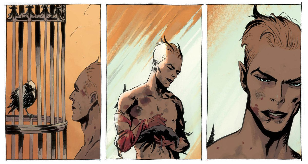 Lucifer as seen in Sandman. JLD Guest Star suggestion.