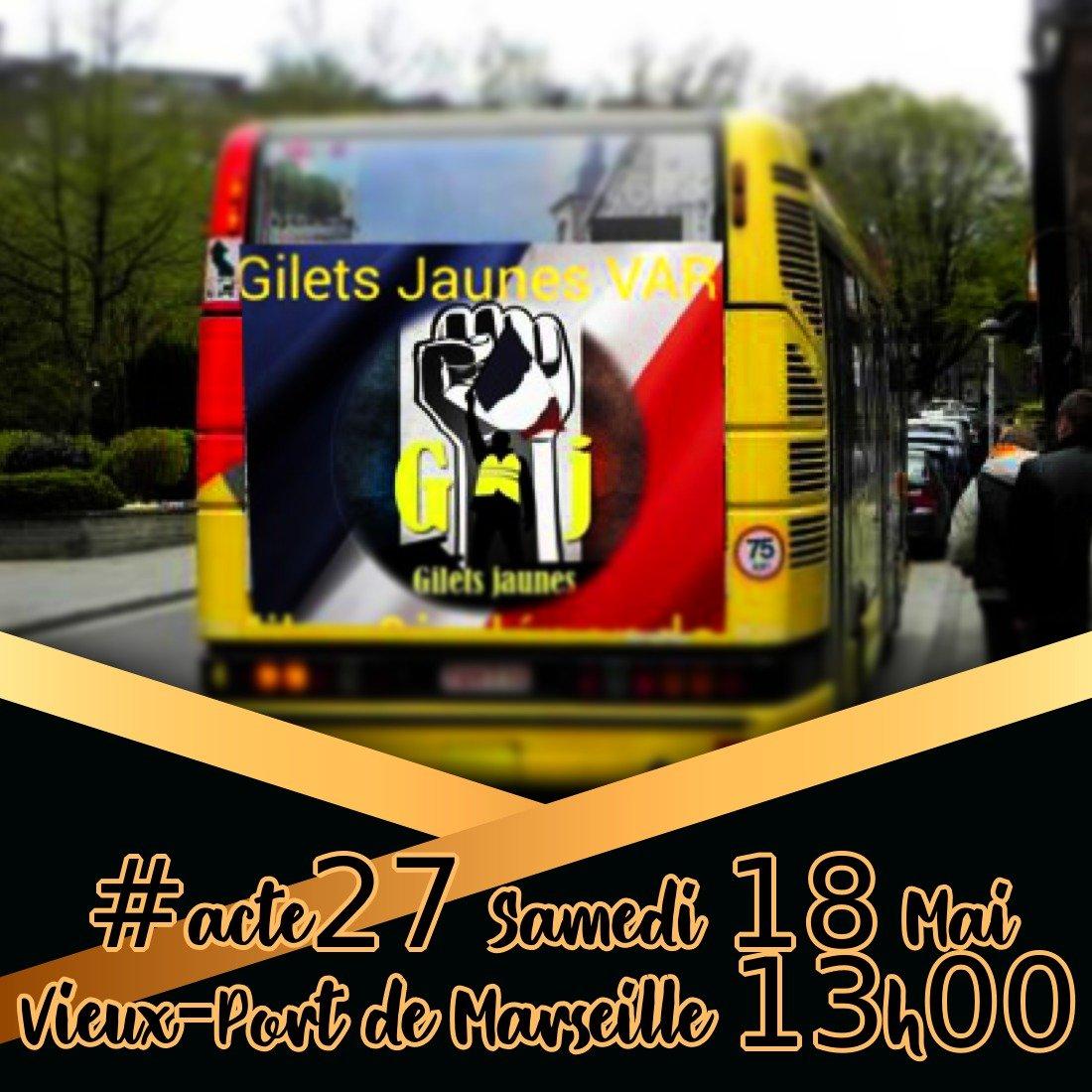 #giletsjaunes #GiletsJaunes83 On Tour #Marseille #acte27 #yellowvests #MacronDemission #MacronCompliceDuPire @GiletsJaunesGo @gjtv83 @PartisanDE @Zaelyah @NowakAnnie2 @mecnormal13 <br>http://pic.twitter.com/erVuBu49yZ
