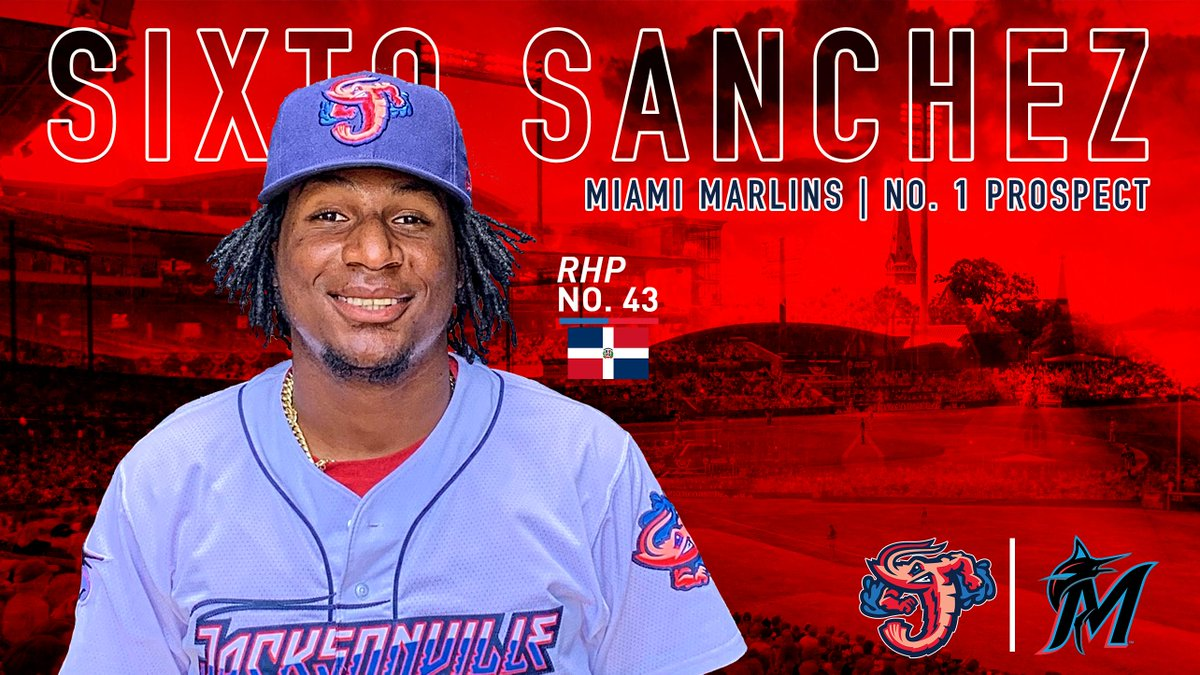 Welcome to Jacksonville Sixto Sanchez!  The @Marlins No. 1 prospect joins the Jumbo Shrimp and will make his Double-A debut tonight at the Baseball Grounds!   Radio Interview with @Roger_Hoover:  https://bit.ly/2WP21l3  Full Story: https://atmilb.com/2Q2W5Ca  #JuntosMiami #SixtoDay
