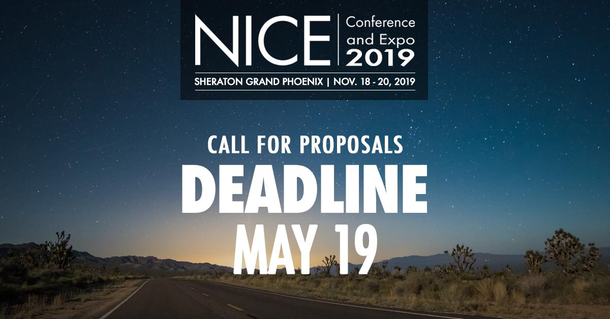 """The 2019 NICE Conference is seeking timely, topical, and thought-provoking presentations in line w/ the conference theme: """"Reimagining the Future of the Cybersecurity Workforce: Adapting to a Changing Landscape""""  Submit your proposal by this Sunday, 5/19: https://t.co/WexPwLzseB"""
