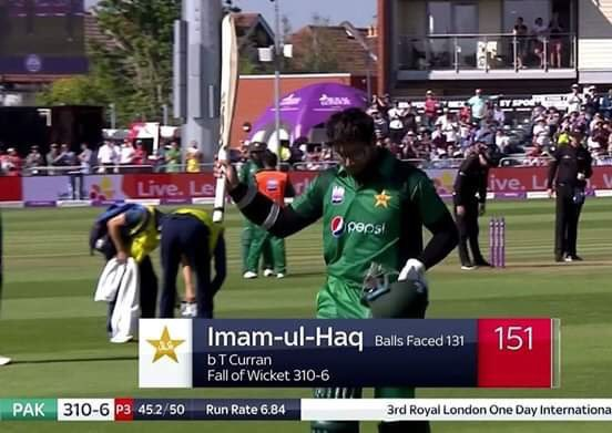 Best way to shatter speculations of nepotism 👏🏻 🙌🏻 @ImamUlHaq12, congratulations on an incredible innings, and for raising the record of Most runs made in an ODI against England 🏏 🇵🇰
