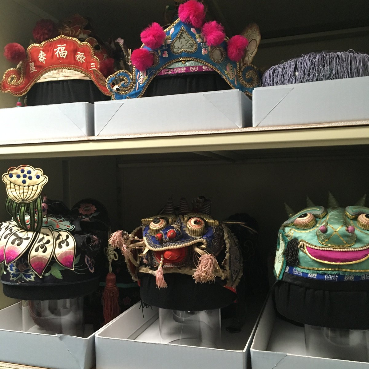 With so much to discover inside our collection storage, our favourite has to be the Chinese Hat collection. Such beautiful, intricate pieces - we all scramble upstairs when we hear theyre being worked on #SecretsMW #MuseumWeek