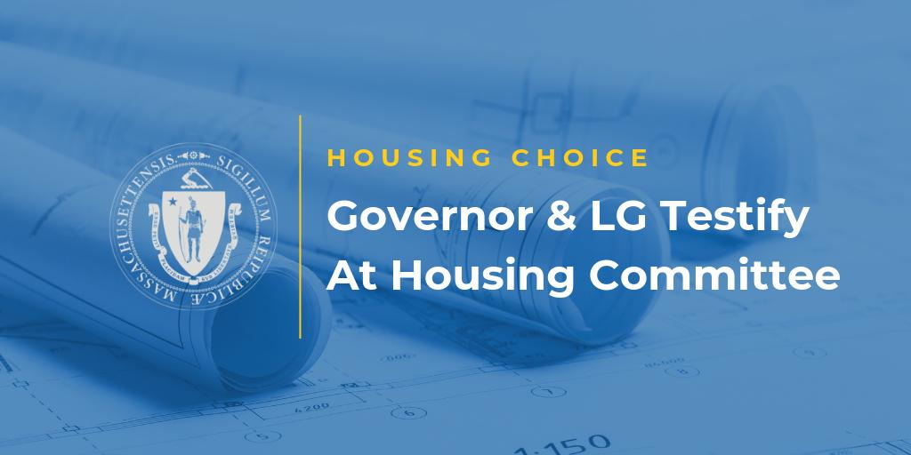 As our administration advances #HousingChoice, @MassLtGov  and I are pleased to testify before the Joint Committee on Housing this morning.  Follow along here for highlights from the testimony.