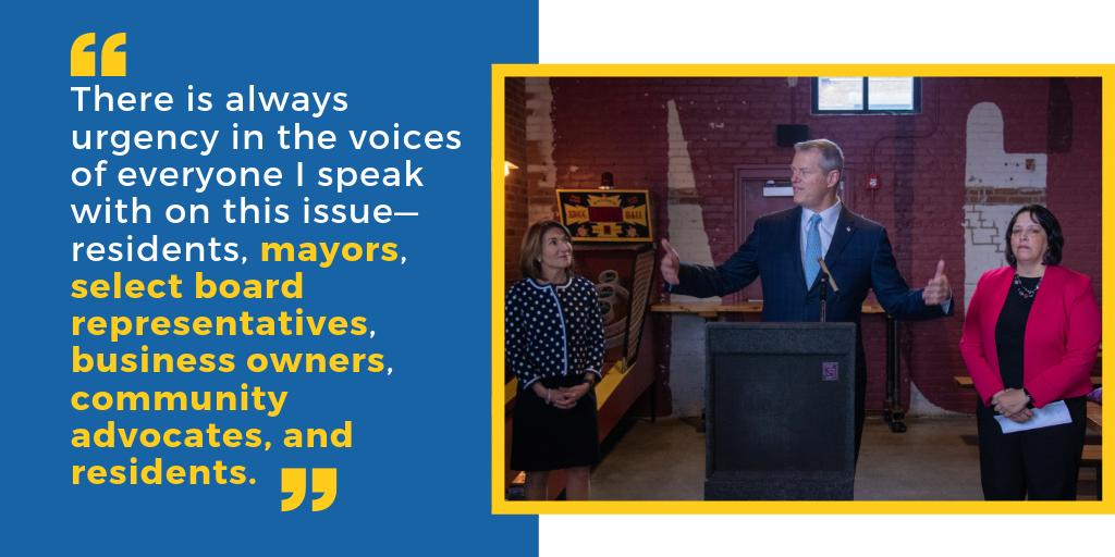 To maintain and grow the Massachusetts economy, we believe being able to live and work in the community you call home must remain within reach.   If we fail to create more affordable options, our workforce and businesses will eventually be forced to relocate.  #HousingChoice