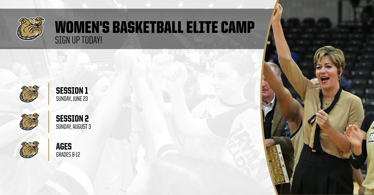 Don't miss your chance to sign up for our elite summer camps!   Sign up today!   📆 June 23 📆 August 3  📝: http://bit.ly/WBB19_Camps   #AllHeart | #AllHustle | #GoBryant