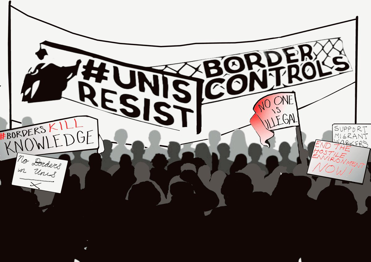 The next @UnisNotBorders workshop will take place on MONDAY 20 MAY from 2pm-4pm, @ Darwin Building B15, at UCL's main Bloomsbury Campus. Learn how you can resist the hostile environment policy inside UK higher education.  Details: https://www.facebook.com/events/1286489348170066/… CC: @Kamnatweets
