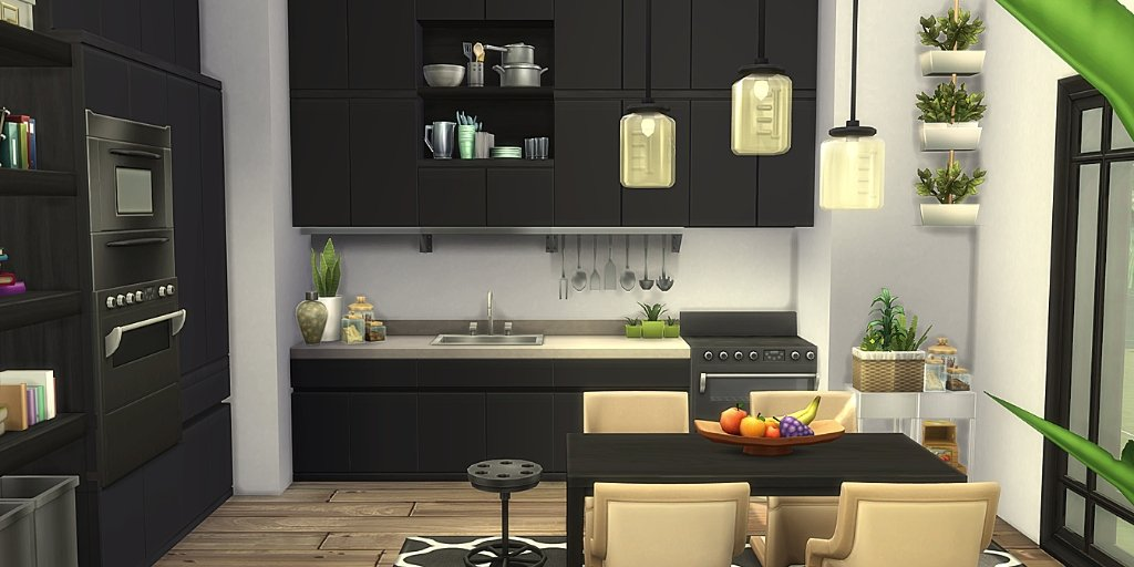 Ninni On Twitter Modern Sustainable A Modern Kitchen Made By Renewable And Recycled Materials For Those Who Puts The Environment First Download Here Https T Co Uoxsgd0wat Showusyourbuilds Thesims Thesims4 Sims4 Nocc Https T Co