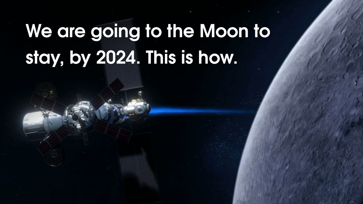 We are going to the Moon — to stay. We will build sustainable infrastructure to support missions to Mars and beyond. This is what we're building. This is what we're training for. We are going. #Moon2024