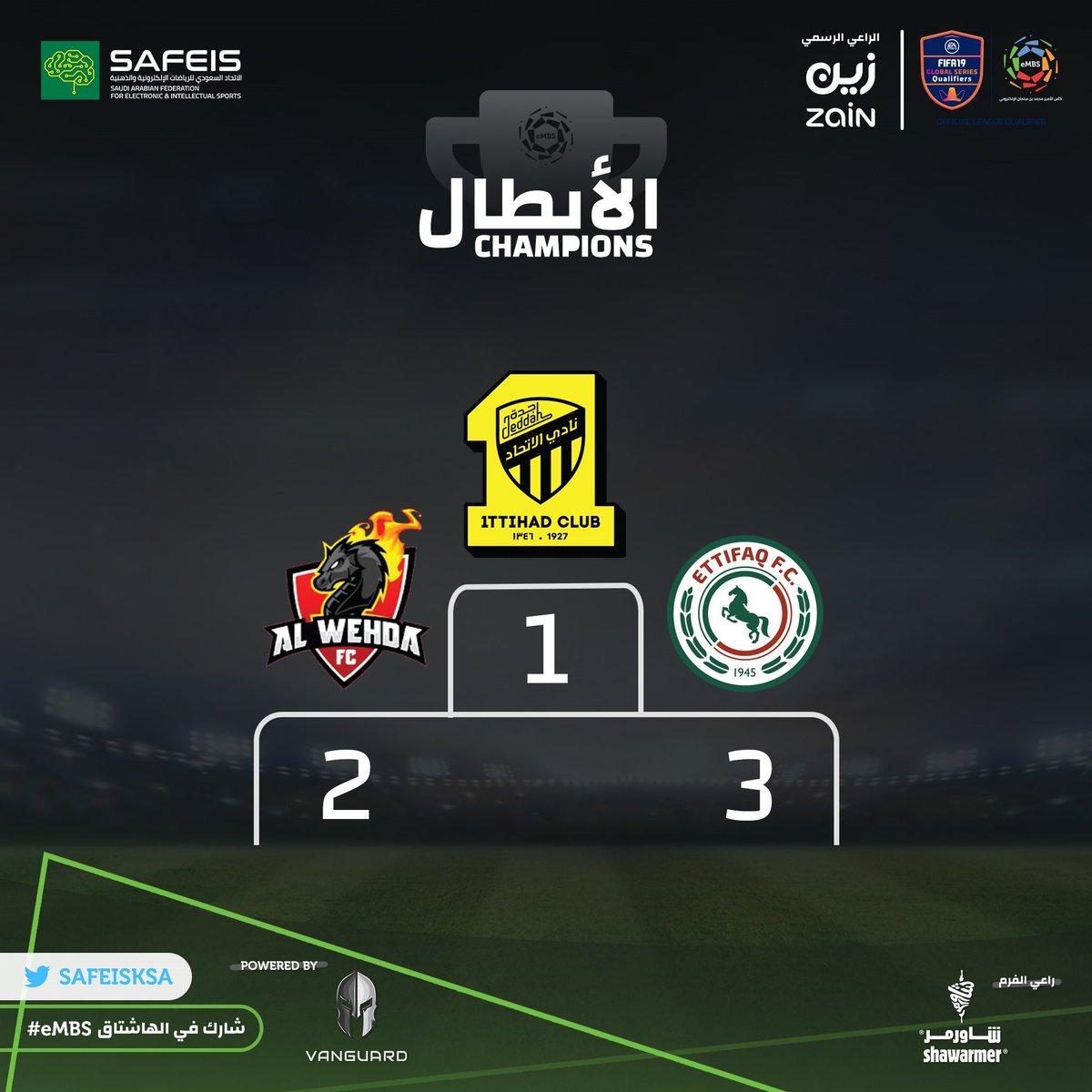 المراكز الأولى في بطولة كأس الأمير محمد بن سلمان #eMBS
