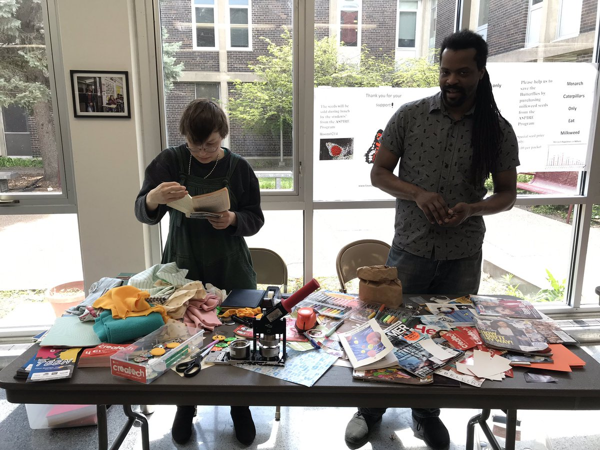 Mess=success. Thanks Z & AJ from @stpaullibrary for bringing Createch to Johnson!
