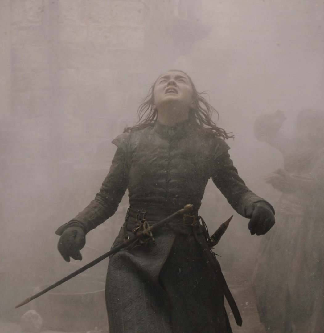 """Arya is the one island of hope in the fiery sea of nihilism and cynicism about human nature that Game of Thrones has become. She fought her darkest instincts, and chose life over revenge.""   #GameOfThrones"